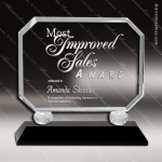 Crystal Black Accented Rectangle Trophy Award Square Rectangle Shaped Crystal Awards