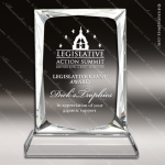 Crystal  Rectangle Spectrum Trophy Award Square Rectangle Shaped Crystal Awards