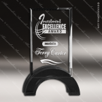 Crystal Black Accented Rectangle Hampton Trophy Award Square Rectangle Shaped Crystal Awards