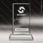 Crystal  Clear Rectangle Sanford Tower Trophy Award Square Rectangle Shaped Crystal Awards