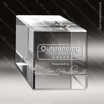 Crystal  Square Cube Block Trophy Award Square Rectangle Shaped Crystal Awards
