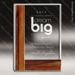 Crystal Wood Accented Rectangle Trophy Award Square Rectangle Shaped Crystal Awards