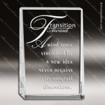 Crystal  Rectangle Plaque Trophy Award Square Rectangle Shaped Crystal Awards
