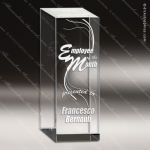 Crystal  Extreme Thick Rectangle  Trophy Award Square Rectangle Shaped Crystal Awards
