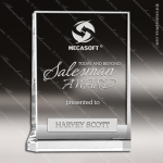 Crystal  Clear Rectangle Vertical Plaque Trophy Award Square Rectangle Shaped Crystal Awards