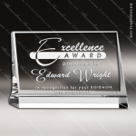 Crystal  Clear Rectangle Horizontal Plaque Trophy Award Square Rectangle Shaped Crystal Awards