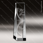 Crystal  Clear Rectangular Wedge Tower Trophy Award Square Rectangle Shaped Crystal Awards