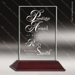 Venus Rosewood Accented Jade Glass Rectangle City Hall Trophy Award Square Rectangle Shaped Glass Awards