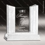 Glass Stone Accented Rectangle Achieva Trophy Award Square Rectangle Shaped Glass Awards