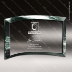 Glass Jade Accented Rectangle Scroll Trophy Award Square Rectangle Shaped Glass Awards