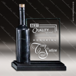 Glass Black Accented Rectangle Grand Cru Wine Trophy Award Square Rectangle Shaped Glass Awards
