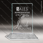 Glass Silver Accented Rectangle City Hall I Alchemy Trophy Award Square Rectangle Shaped Glass Awards