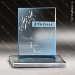 Glass Blue Accented Rectangle Cerulean Trophy Award Square Rectangle Shaped Glass Awards