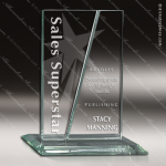 Glass Jade Accented Rectangle Formulation Trophy Award Square Rectangle Shaped Glass Awards