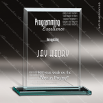 Glass Jade Accented Rectangle Divulgence Trophy Award Square Rectangle Shaped Glass Awards