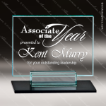 Glass Black Accented Rectangle Genesse Trophy Award Square Rectangle Shaped Glass Awards