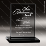 Glass Black Accented Rectangle Obsidian Trophy Award Square Rectangle Shaped Glass Awards