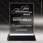 Maccord Square Glass Black Accented Rectangle Trophy Award Square Rectangle Shaped Glass Awards
