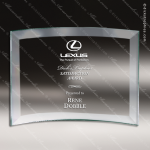 Mabus Crescent Glass Jade Accented Rectangle Curved Trophy Award Square Rectangle Shaped Glass Awards