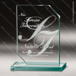 Glass Jade Accented Rectangle Expertise Trophy Award Square Rectangle Shaped Glass Awards