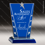 Tangelo Glass Blue Accented Silver Star Constellation Series Trophy Award Square Rectangle Shaped Glass Awards