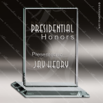 Tonozzi Rectangle Glass Jade Accented Trophy Award Square Rectangle Shaped Glass Awards