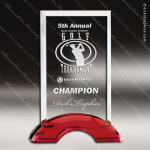 Macneir Rectangle Glass Red Accented Trophy Award Square Rectangle Shaped Glass Awards