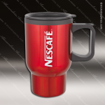 Engraved Stainless Steel 16 Oz. Travel Beverage Mug Red Laser Etched Gift Stainless 16 Oz. Travel Beverage Mugs