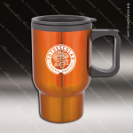 Engraved Stainless Steel 16 Oz. Travel Beverage Mug Orange Laser Etched Gif Stainless 16 Oz. Travel Beverage Mugs