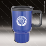 Engraved Stainless Steel 16 Oz. Travel Beverage Mug Blue Laser Etched Gift Stainless 16 Oz. Travel Beverage Mugs