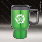 Engraved Stainless Steel 16 Oz. Travel Beverage Mug Green Laser Etched Gift Stainless 16 Oz. Travel Beverage Mugs