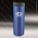 Engraved Stainless Steel 16 Oz. Travel Tumbler Mug Blue Laser Etched Gift Stainless 16 Oz. Travel Tumblers