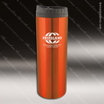 Engraved Stainless Steel 16 Oz. Travel Tumbler Mug Orange Laser Etched Gift Stainless 16 Oz. Travel Tumblers