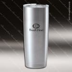 Engraved Stainless Steel 20 Oz. Thermal Tumbler Mug Silver Laser Etched Gif Stainless 20 Oz. Insulated Tumblers