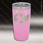 Engraved Stainless Steel 20 Oz. Tumbler Light Purple Laser Etched Gift Stainless 20 Oz. Insulated Tumblers