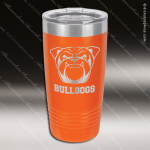 Engraved Stainless Steel 20 Oz. Ringneck Travel Mug Orange Etched Gift Stainless 20 Oz. Ringneck Travel Mugs