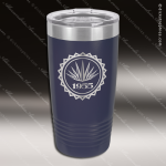 Engraved Stainless Steel 20 Oz. Ringneck Travel Mug Navy Blue Etched Gift Stainless 20 Oz. Ringneck Travel Mugs