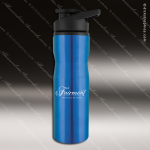 Engraved Stainless Steel 25 Oz. Water Bottle Blue Laser Etched Gift Stainless 25 Oz. Water Bottles