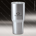 Engraved Stainless Steel 30 Oz. Thermal Tumbler Mug Silver Laser Etched Gif Stainless 30 Oz. Mug Polar Tumblers