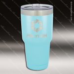 Engraved Stainless Steel 30 Oz. Mug Polar Tumbler Light Blue Laser Etched G Stainless 30 Oz. Mug Polar Tumblers