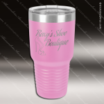 Engraved Stainless Steel 30 Oz. Ringneck Travel Mug Light Purple Etched Gif Stainless 30 Oz. Ringneck Travel Mugs