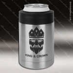 Engraved Stainless Steel Beverage Koozie Cooler Silver Laser Etched Gift Stainless Steel Beverage Holders