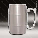 Engraved Stainless Steel Metal Barrel Mug Silver Laser Etched Gift Stainless Steel Metal Barrel Mugs