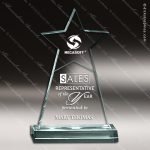 Acrylic  Jade Accented Star Obelisk Trophy Award Star Acrylic Awards