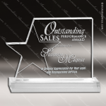 Acrylic  Clear Star Page Trophy Award Star Acrylic Awards