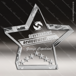 Acrylic  Clear Star Performance Trophy Award Star Acrylic Awards