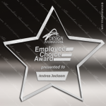 Acrylic  Clear Star Paperweight Trophy Award Star Acrylic Awards