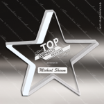 Acrylic  Clear Silver Edge Star Trophy Award Star Acrylic Awards