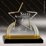 Acrylic Gold Accented Carved Star Impress Trophy Award Star Acrylic Awards