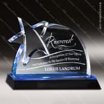Acrylic Blue Accented Star Accent Trophy Award Star Acrylic Awards